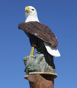 Eagle Sculpture Guarding The Gate